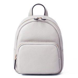 Light grey mini leather backpack